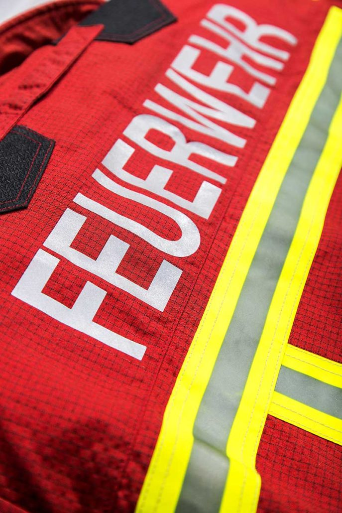 L-mobile trace fireproof clothing Textilidentifikation mit RFID Technologie