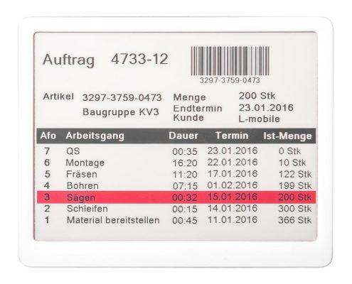 L-mobile e-label Auftragskennzeichnung