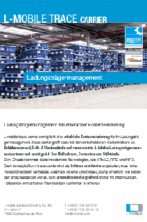 L-mobile trace carrier Broschuere