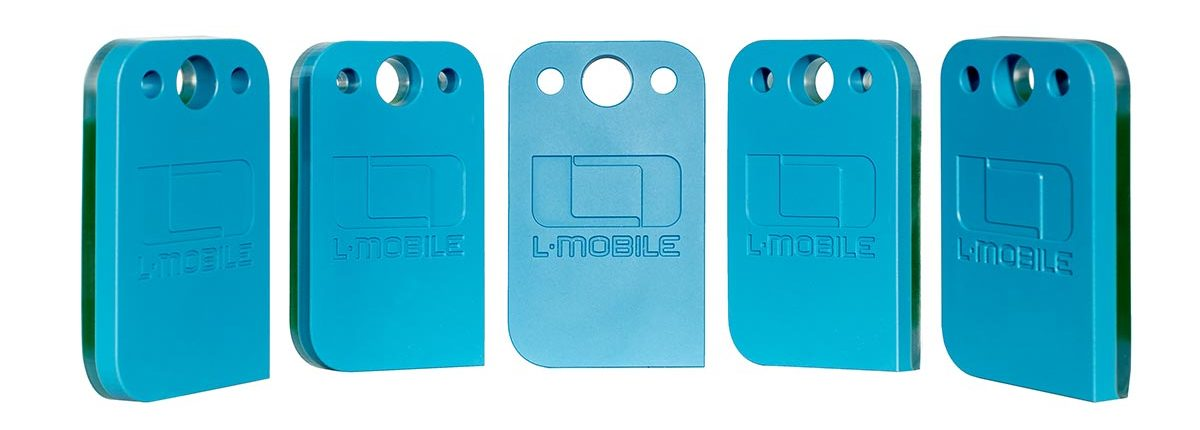 L-mobile RFID-Tag Hybrid NFC UHF Tag Gruppeansicht