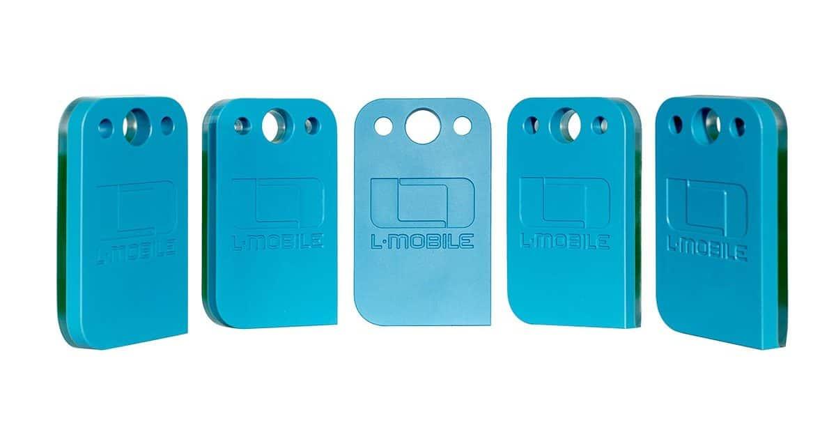 L-mobile RFID-Tag Hybrid NFC UHF Tag Gruppeansicht
