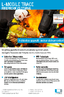 L-mobile trace fireproof clothing Flyer