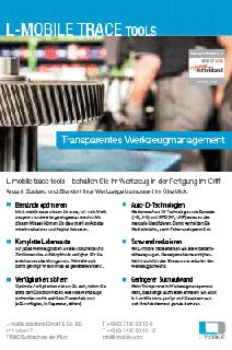 L-mobile trace tools Werkzeugverwaltung Flyer