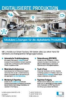 Produktflyer L-mobile production